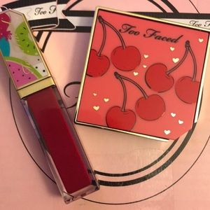 Too Faced Fruit Cherry Blush and Lip Duo